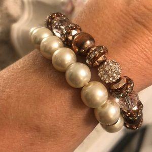 Two beautiful Rosegold tone bracelets